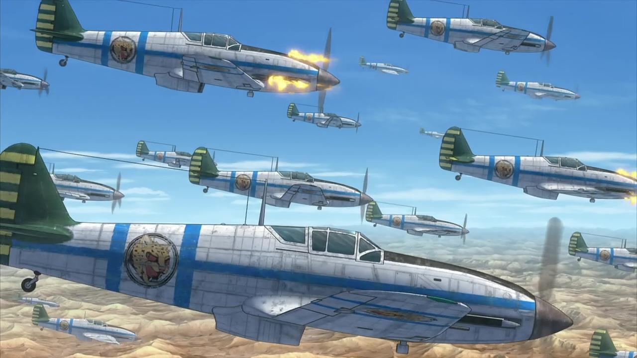 『荒野のコトブキ飛行隊』第2話「さすらいの6人」飛燕